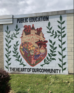 Public School Mural in Milwaukee, WI.