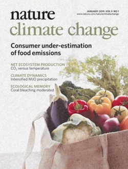 Cover of Nature Climate Change.