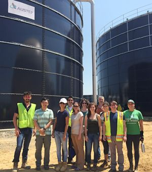 Bass Connections team members and Sustainable Duke field visit