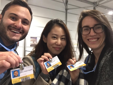 Duke University delegates Corey Sugerik, Cai May Tan, and Paelina DeStephano at COP24. Photograph: Tasfia Nayem