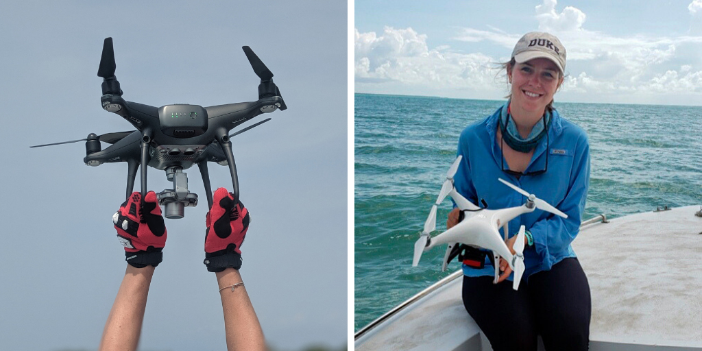 Kelly Dobroski and drone.