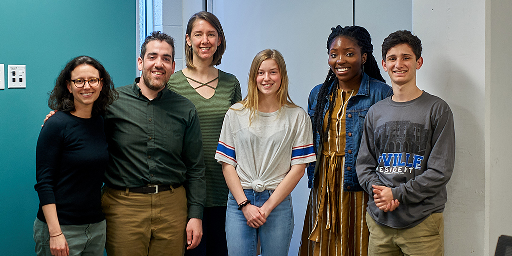 The Music for Social Change team: Jessica Sperling Smokoski, Josh deVries, Megan Gray, Dayna Price, Paula Ajumobi, Jacob Rubin (Photo: Robert Zimmerman).