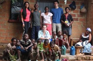 Aashna Aggarwal and team members in Zambia.
