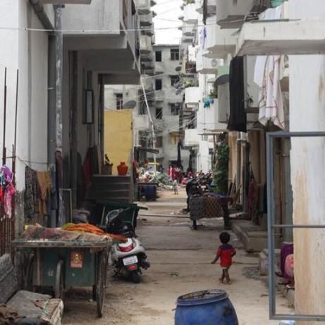 Slum in India.
