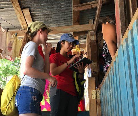 Bass Connections team members in Honduras