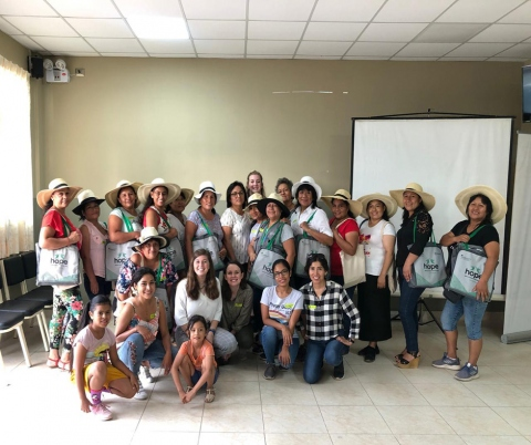 Bass Connections team with HOPE Ladies in Peru, March 2020