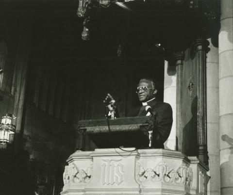 Desmond Tutu at Duke Chapel, courtesy of Duke University Archives.