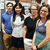 Ethan Czerniecki, Daisy Zhan, Charlotte Sussman and Emma Davenport at the Data+ poster session.