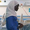 Nurse in Kampala.