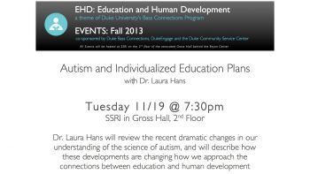 11/19: Autism and Individualized Education Plans