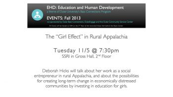 11/5: Rural education in Madison County, North Carolina