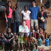 Aashna Aggarwal and team members in Zambia.
