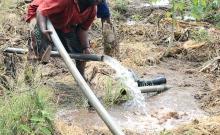Red Cross furrow irrigation project in Lukole, Kenya.