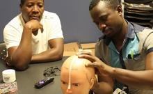 EEG exam demonstration.