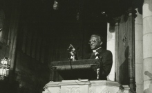 Desmond Tutu at Duke Chapel, courtesy of Duke University Archives.