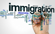 Immigration word cloud.