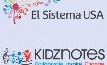 El Sistema and Kidznotes logos.