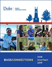 Bass Connections annual report cover 2018-19.