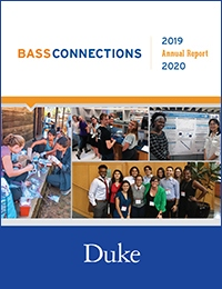 Bass Connections annual report cover 2019-20.